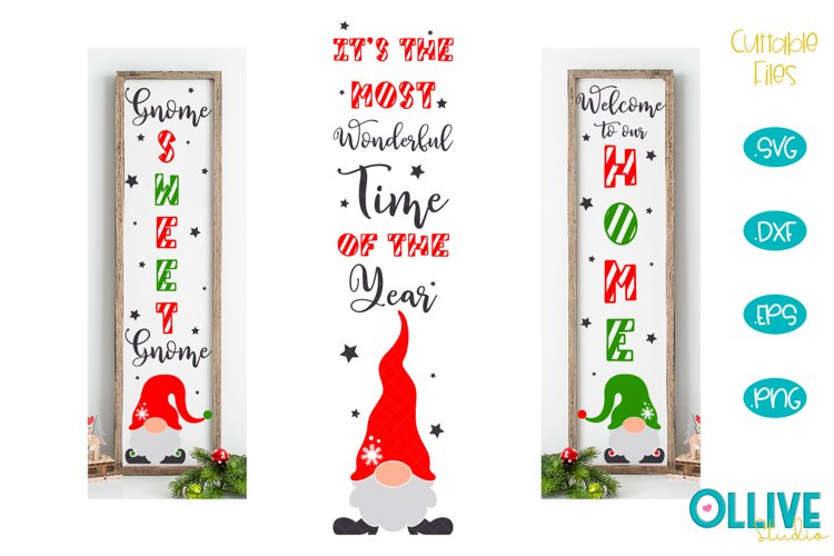 Christmas Gnomes Porch Sing SVG Mini Bundle example image 1