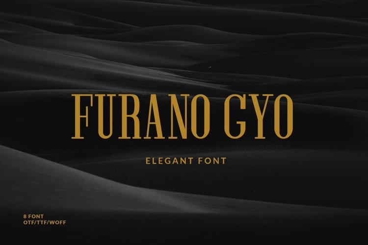 Furano Gyo font example image 1
