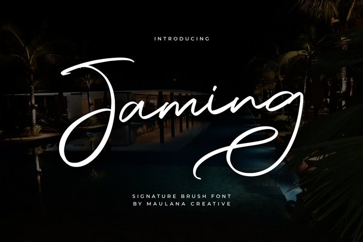 Jaming Signature Brush Font example image 1