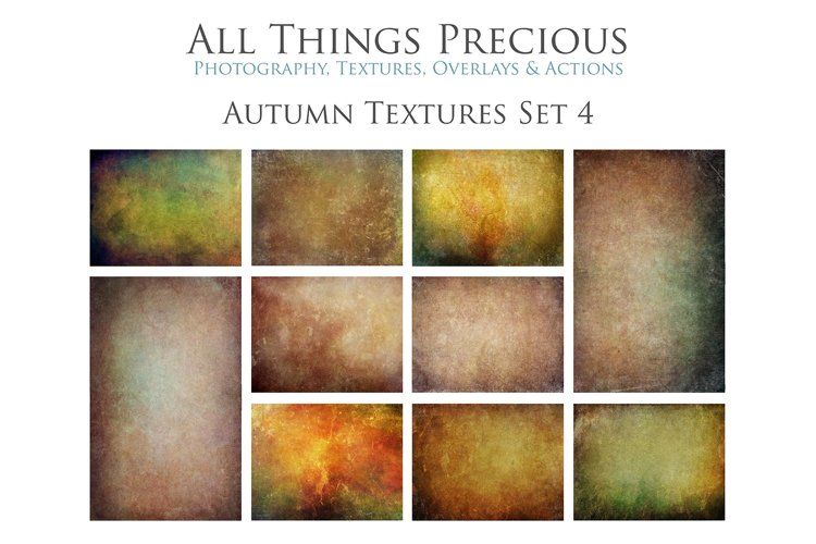 10 Fine Art AUTUMN Textures SET 4 example image 1