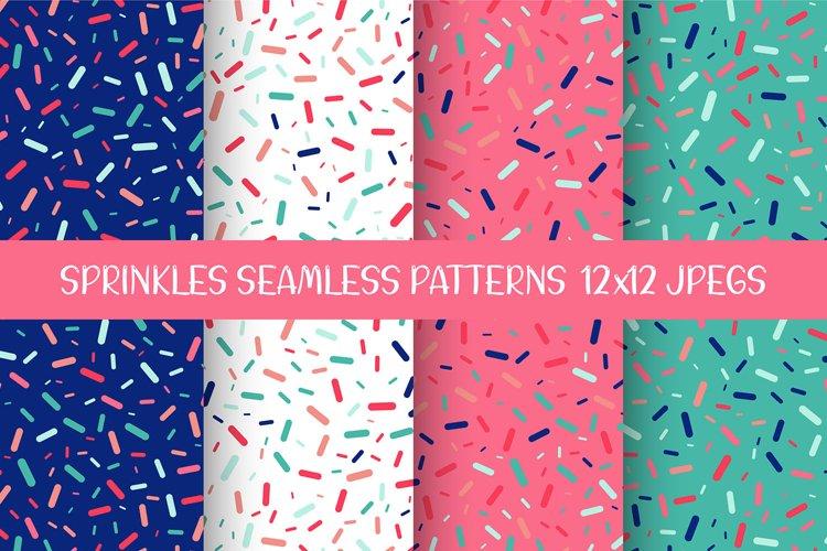 Sprinkles Seamless Patterns, Digital Papers