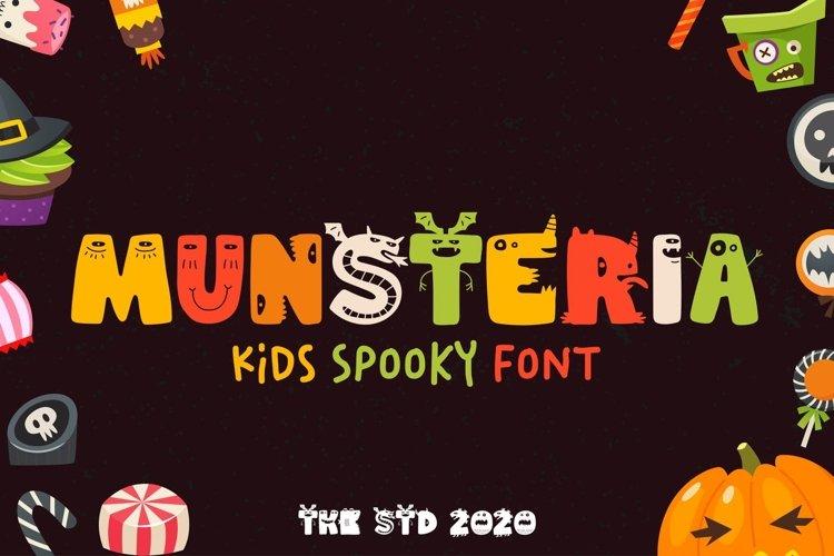 Munsteria - Kids Funny Monster Font example image 1