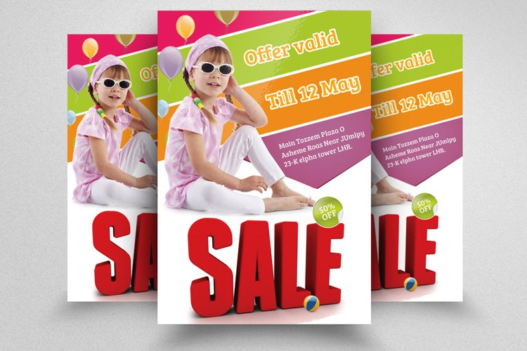 Kids Shopping Sale Offer Flyer example image 1