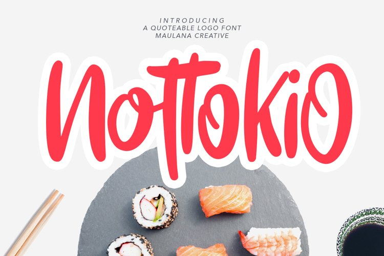 Nottokio Quoteable Logo Font example image 1