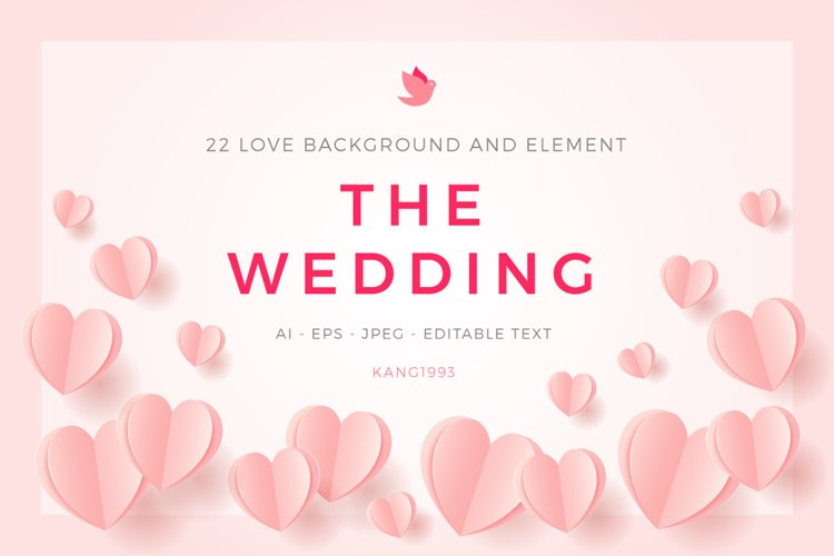 Love Wedding Background Template example image 1