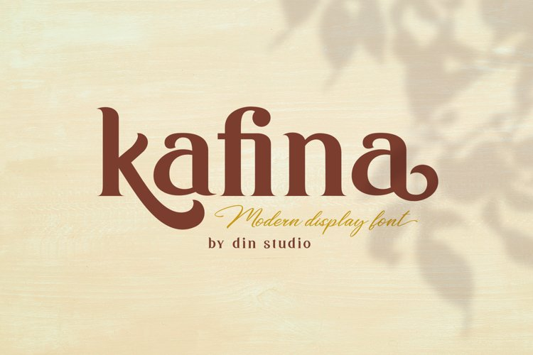 Kafina Modern Serif Font