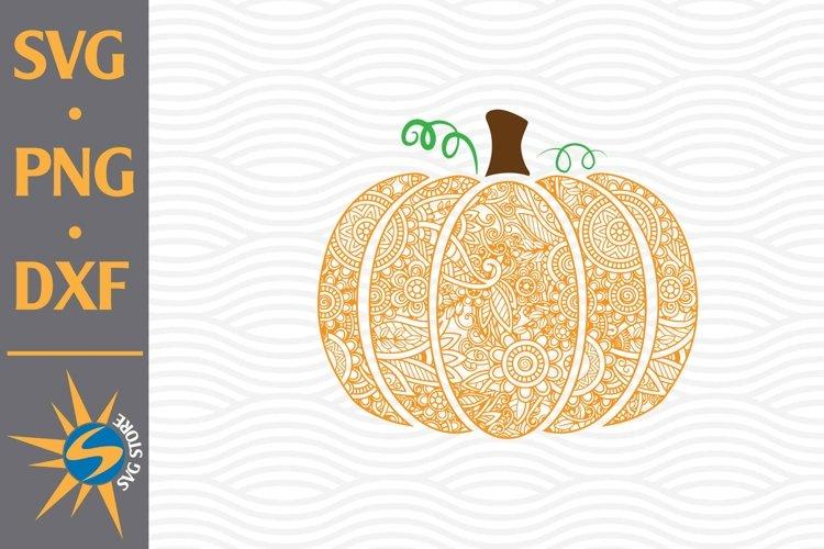 Mandala Pumpkin SVG, PNG, DXF Digital Files Include example image 1