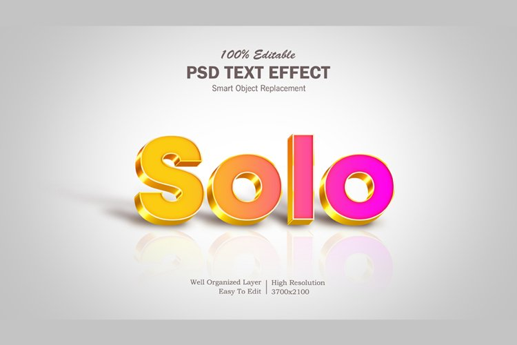 3D Solo Text Effect example image 1