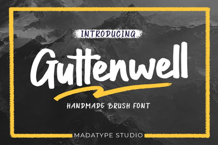 Guttenwell | A Handmade Brush Font example image 1