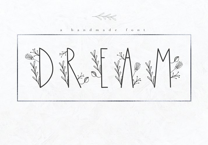 Dream - Handmade Floral Font example image 1