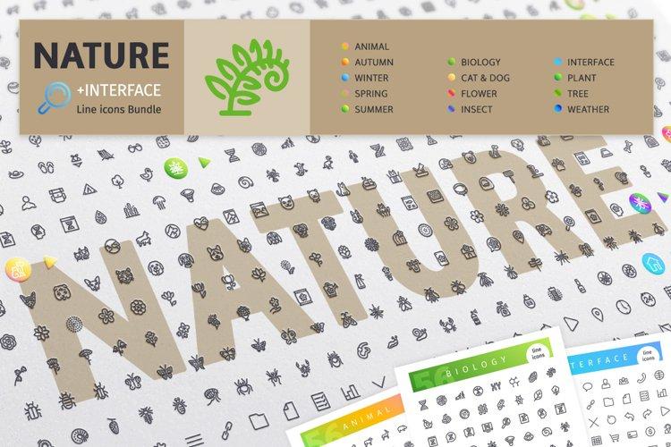 Nature 700 Line Icons Bundle example image 1