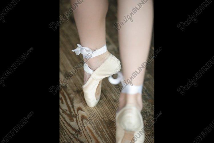 Ballerina legs on tiptoe example image 1