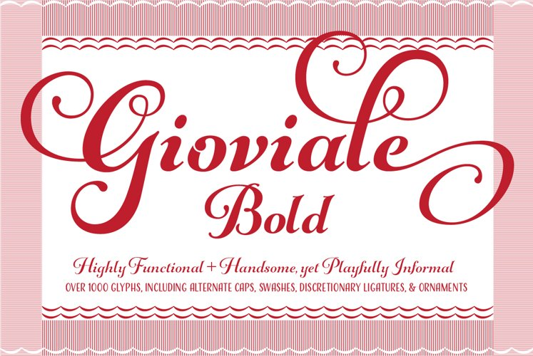 Gioviale Bold example image 1