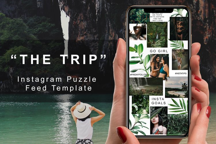 """Instagram Puzzle Feed Template - """"The Trip"""" example image 1"""
