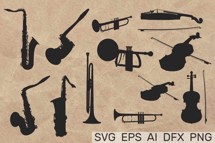 MUSICAL INSTRUMENTS collection Clipart. Vector illustration example image 1
