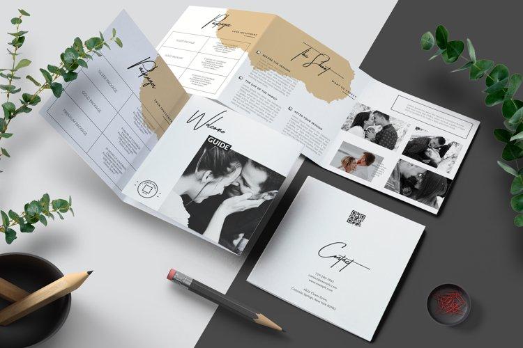 Photographer Square Tri-fold Brochure Template