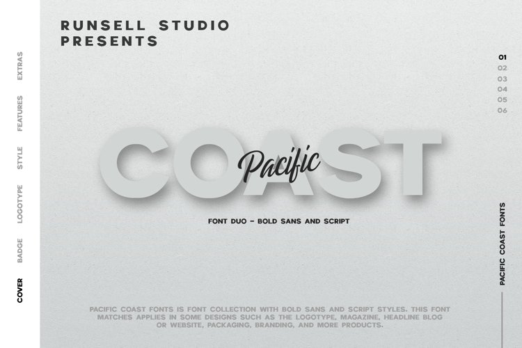PACIFIC COAST Font + Extras example image 1