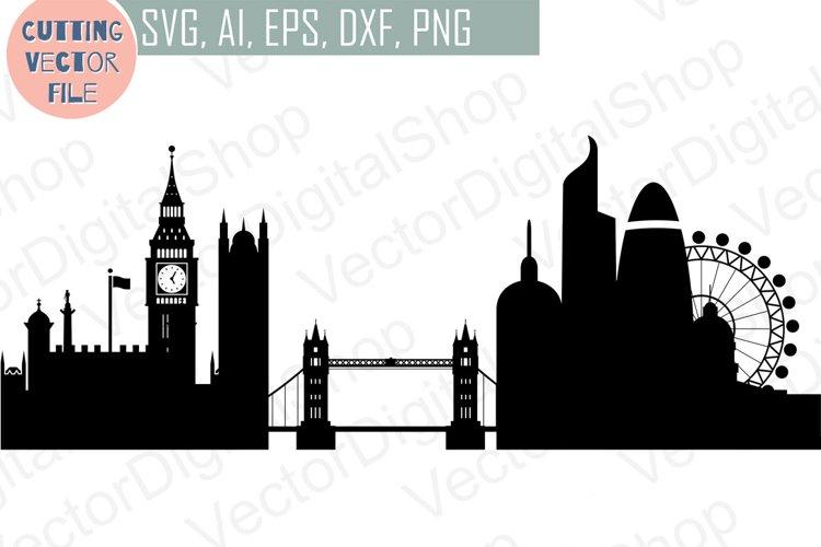 London Skyline Vector, England city, SVG, JPG, PNG, DWG, CDR, EPS, AI