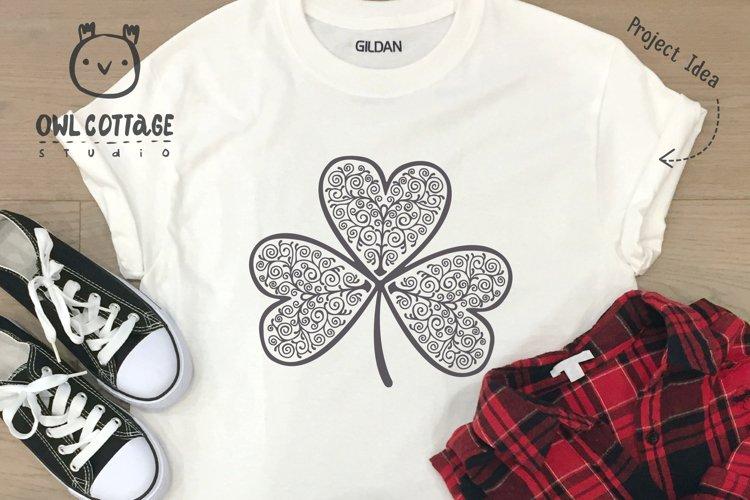 St. Patricks day svg, Clover Leaf, Clover Leaf Tattoo example 7