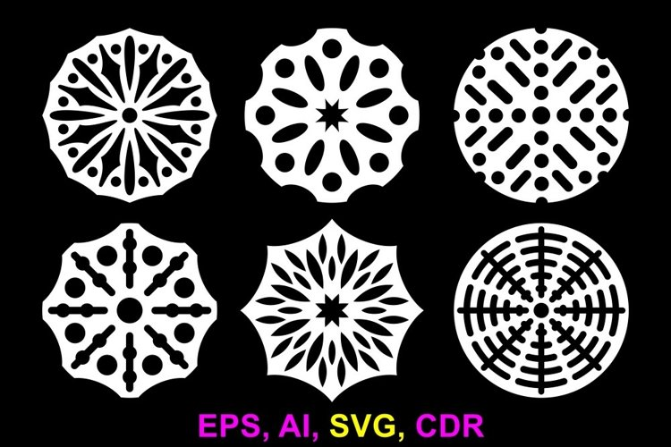 Round patterned ornaments for various applications example image 1