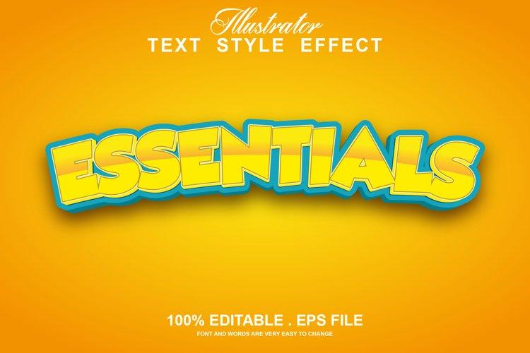essentials text effect editable