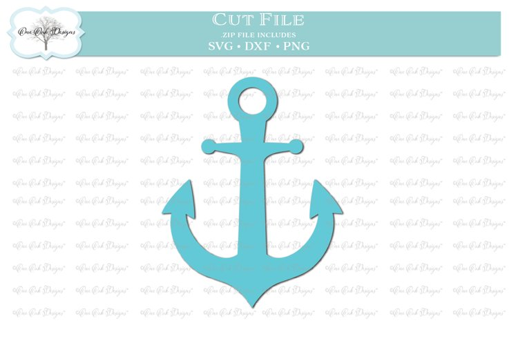 Solid Anchor - SVG DXF PNG
