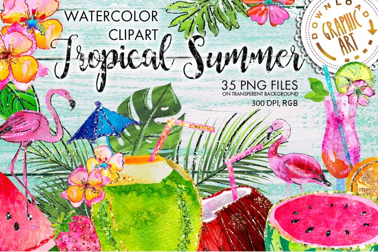 Tropical Summer Clip Art example image 1