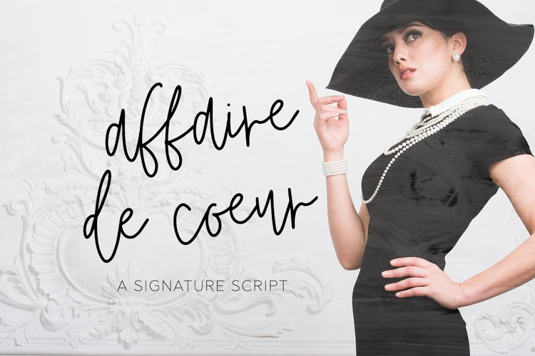 Affaire de Coeur Signature Script example image 1