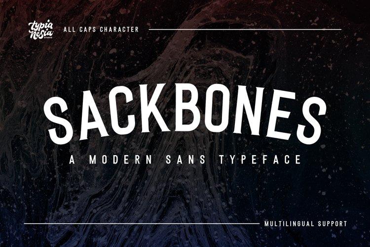 Sackbones Sport Font example image 1