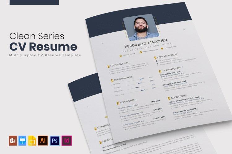 Clean Series | CV & Resume example image 1
