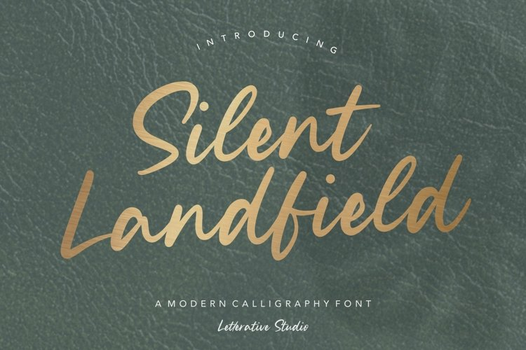 Silent Landfield is a Modern Calligraphy Font example image 1