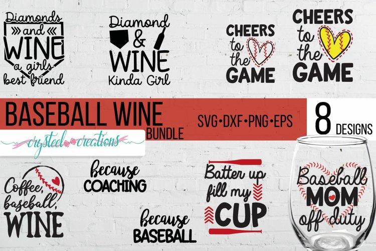 Baseball Wine Bundle SVG, DXF, PNG, EPS example image 1