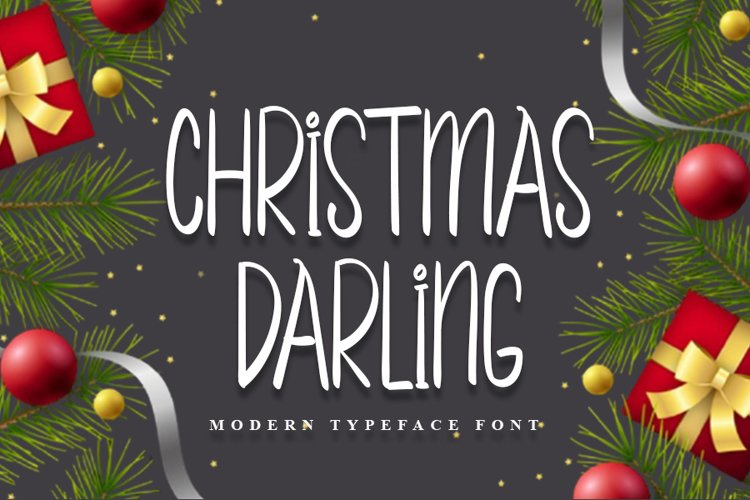 Christmas Darling - Beautiful Christmas Font example image 1