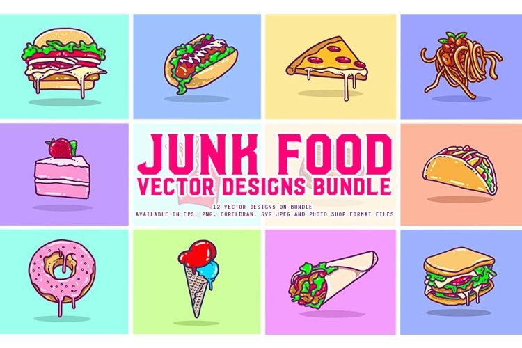 Junk Food Vector Designs Bundle example image 1