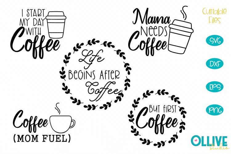 Coffee Funny Quotes SVG Bundle example image 1