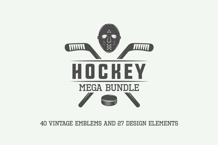 Vintage Hockey Emblems Bundle