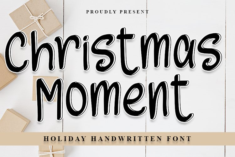 Christmas Moments - Holiday Handwritten Font example image 1