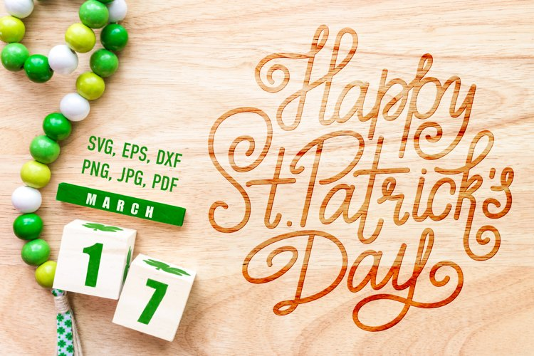 St. Patrick Day Lettering | SVG Cut File example image 1