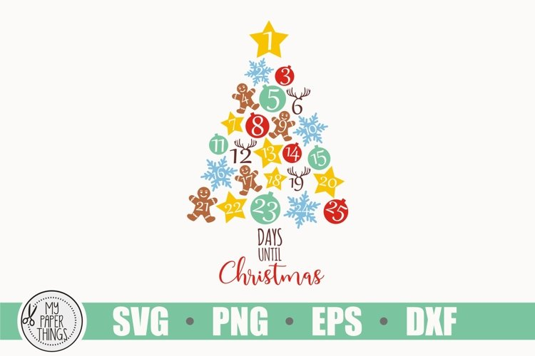 Christmas Svg, Countdown Svg, Star Svg