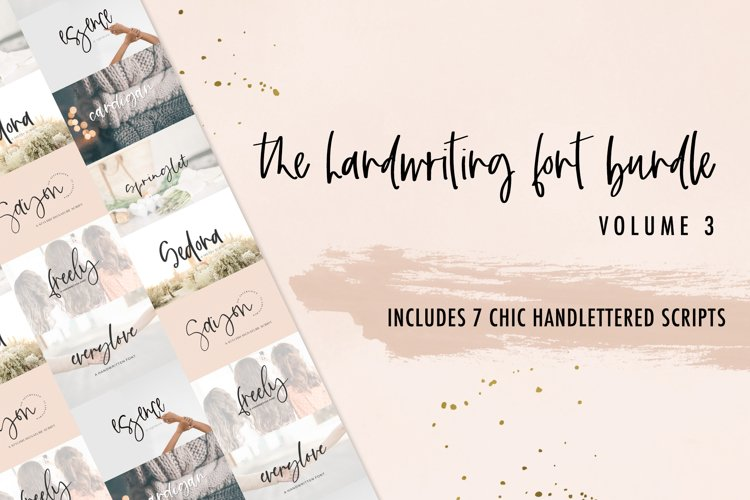 The Handwriting Font Bundle Vol. 3