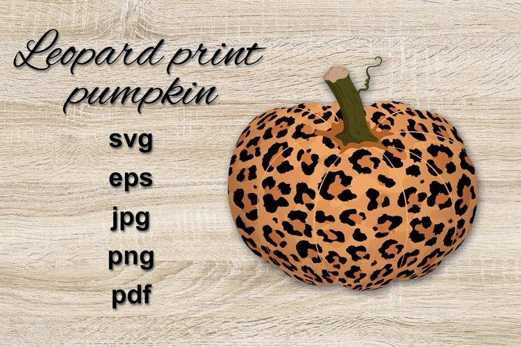 Pumpkin with Leopard/ Cheetah print.
