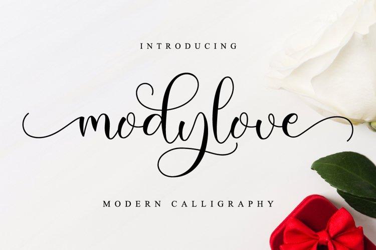 Modylove // Lovely Script Font example image 1