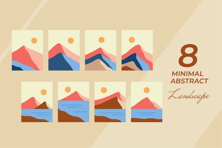 Minimal Abstract Landscape Vector Collecrions