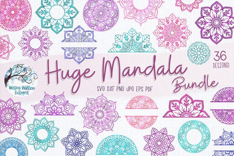 Huge Mandala Bundle | 36 Mandala SVG Cut Files