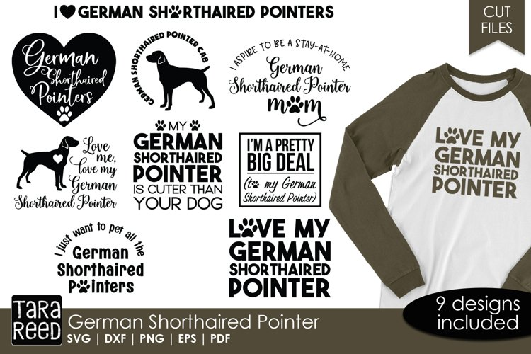 German Shorthaired Pointer - Dog Cut Files for Crafters example image 1