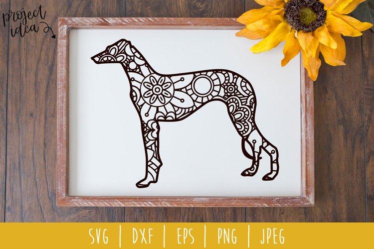 Greyhound Mandala Zentangle SVG, DXF, EPS, PNG, JPEG example image 1