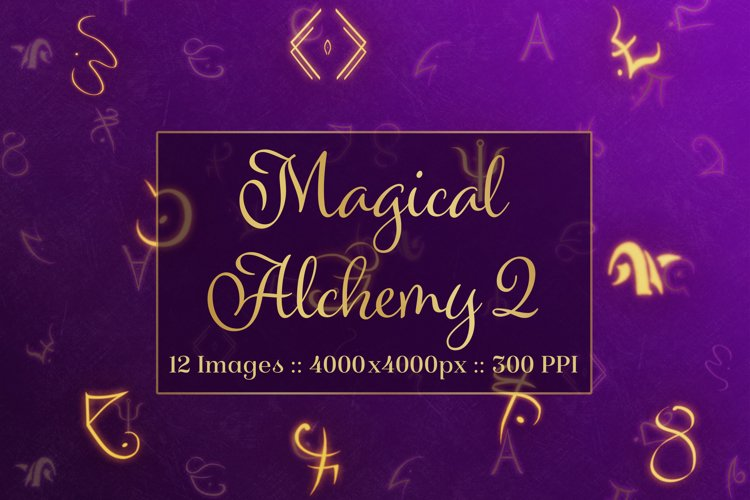 Magical Alchemy 2 - Background Images Textures Set example image 1