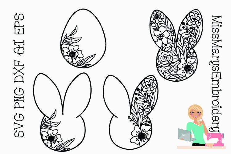 SVG Doodle Easter | Easter SVG | Springs SVG |Easter Bunny example image 1