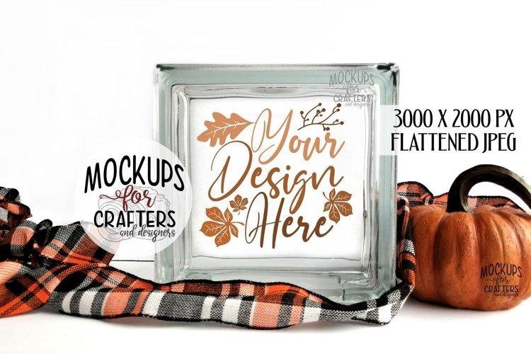 GLASS BLOCK Mock-Up - Fall, Autumn, Halloween