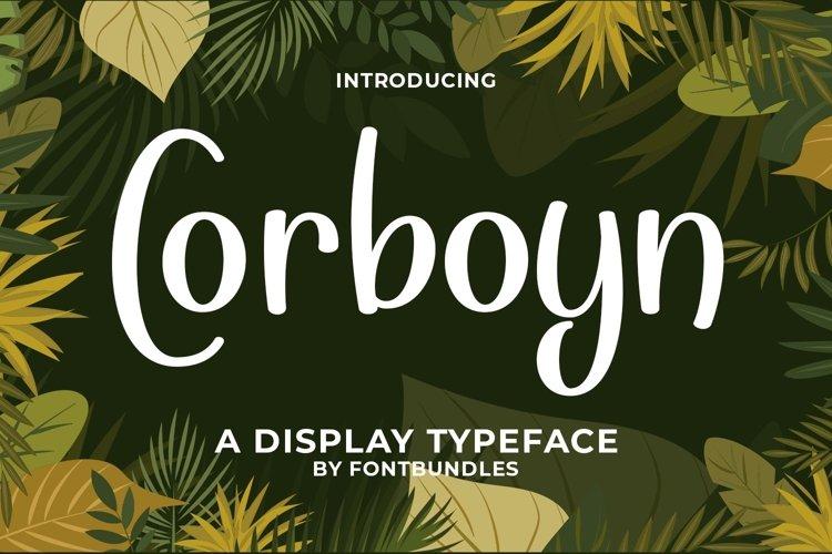 Web Font Corboyn example image 1